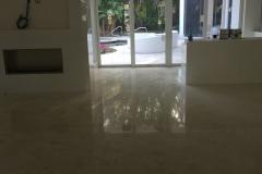 Polished Limestone Floor