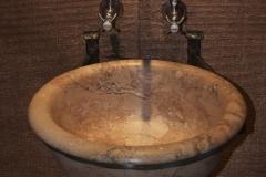 Restored Polished Travertine Sink