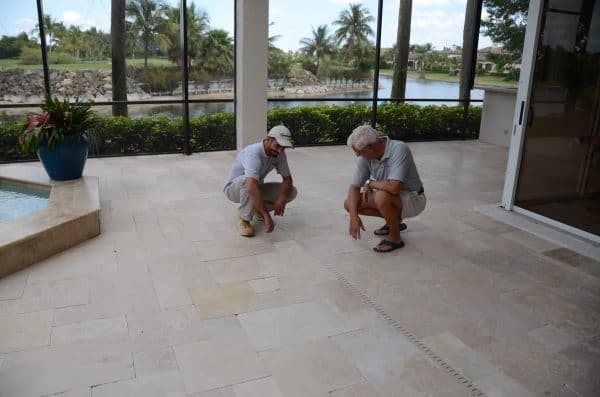 Sand set travertine paver company, clean and seal travertine sand set pavers, travertine pool deck, concrete paver driveway cleaning and seal company